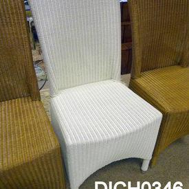 White High Back Lloyd Loom Chair