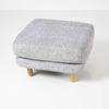 Gilmore Space Grey Woven Footstool