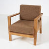 Pri Retro Lounge Brown Fabric Zebrano Chair
