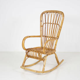 Bamboo & Cane Seat & Back Rocking Chair