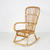 Low Black Bamboo & Cane Seat & Back Rocking Chair