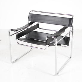 Chrome & Black Leather Wassily Chair