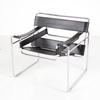 Chrome & Black Leather 'wassily' Chair