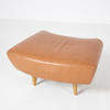 "Conran Lt Tan  Leather ""Matador"" Leather Footstool"