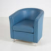 B Sky Blue Prima Leather Tub Chair