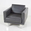 B Millie Grey Hide Armchair