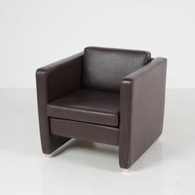 B Ski Chocolate Hide Armchair