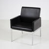 Interstuhl Black Leather Chrome Leg Mk Box Style Chair