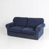 Dark Blue Fabric 3 Seat Roll Arm  Sofa
