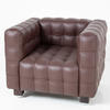 Brown Leather Hoffman Style Armchair