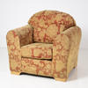 Celtic Dull Gold& Rust Floral Self Pattern Armchair