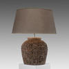 Large Coral Effect Pottery Table Lamp