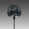 "Black Table Lamp With Anthracite Grey ""Aluvia"" Leaves Shade"