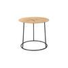 Small Circular Metal Lamp Table With Log Top