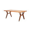 1960s Italian Teak Wooden Dining Table ( H: 73cm L: 180cm W: 93cm )