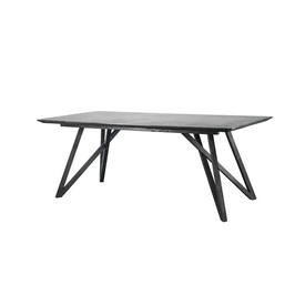 "Rect Grey Mineral Top ""Spider"" Dining Table"