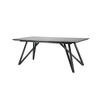"Rect. Grey Mineral Top ""Spider"" Dining Table ( H: 76cm L: 200cm W: 90cm )"