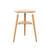 Oak Wood 'my Spot' Triangular' Tri Leg Lamp Table With Shelf
