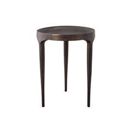 Tall Burn Antique Phantom Tri Leg Side Table