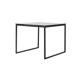 "Square Black Framed ""Como"" Lamp Table with Smoked Glass Top"