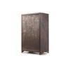 Rusted Metal Single Door Cabinet ( H: 87cm W: 54cm D: 32cm )