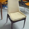 Cream Fabric Rosewood Frame Dining Chair