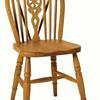 Lt/ Oak Wheel Back Occasional Dining Chair