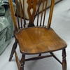 Dark Oak Wheelback Occasional Dining Chair