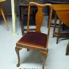 Walnut Cabriolet Leg Red Seat Occasional Dining Chair