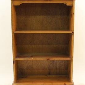 Yourstore Laurel Pine Low Narrow  Bookcase