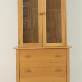 Gilbert Logan Olympic Light Oak Glazed Door Dresser Top