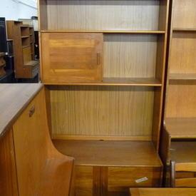 6' X3' 4'' Danish Teak 2 Door 2 Part  Bookcase  (50S)