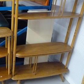 """Ercol 50"""" Tall Open Elm Bookshelf"""