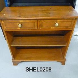 Yew 2 Drawer 3' Open Shelf Unit