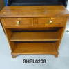 Yew 2 Drawer 3' Open Shelf Unit