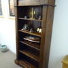 7' X 3' Dark Oak Reeded Side Open Shelf Unit