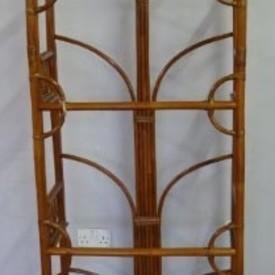 Dark Bamboo 4 Tier Shelf 6' X 3' Dome Top Shelf Unit