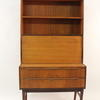 "5'6"" X 3' Teak Open & 2 Drawer Drop Front Wall Unit On Legs  (50s)"