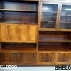 6 X 3 Glazed And Solid 4 Door Rosewood  Wall Unit
