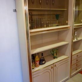 Zevi Peach & Brass & Smoked 200cm X 108cm 4 Door Wall Unit  , (Reproduction)