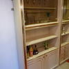 Zevi Peach & Brass & Smoked 200cm X 108cm 4 Door Wall Unit  , (Reproduction)