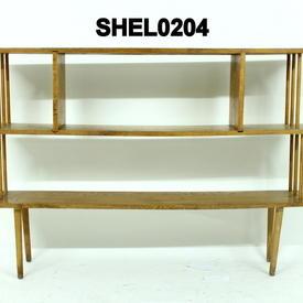 """Light Oak 4'6"""" Low Open 50'S Shelf Unit"""