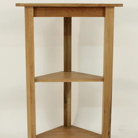3 Tier Classic Oak  'Lyon' Corner Shelf Unit