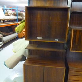 "7' X 2'6"" Marshal Rosewood 2 Door Open Front Shelf Unit"
