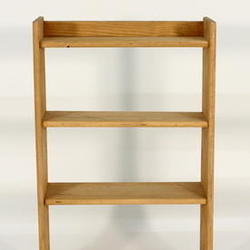Small Pine 80Cm X 50Cm 4 Tier Open Shelf Unit Painted