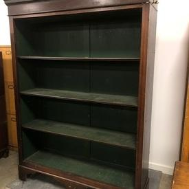 192Cm X 144Cm Mahogany Book Shelf with Green Back