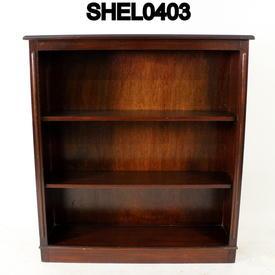 Medium  Mahogany Repro Open Bookcase