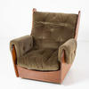 G Plan Saddle Set Green Dralon & Teak Armchair  (50s)