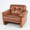 B & B Tan Button Leather Coronado Armchair