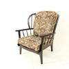 60's Ercol Colonial Style Frame Tapestry Armchair